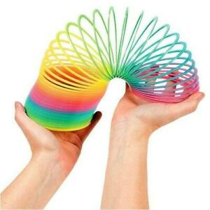 Toy Spring Rainbow Colorful Magic Plastic Coil Children Kids Educational Circle