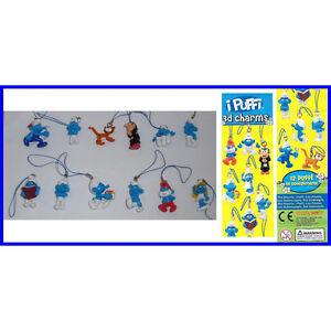 Smurfs 3D Danglers Charms keyrings Grouchy, Papa, Brainy, Smurfette, Gargamel,