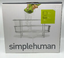 SimpleHuman Compact Wire Frame Dishrack Utensils Stainless Steel Dish Rack Drain
