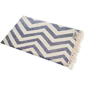 Hamam Cloth Zigzag Jeans White Beach Towel Pareo Sauna 90x175cm 100% Cotton