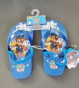 Paw Patrol Flip Flops Shoe Sandals Size 7 / 8 Blue NEW