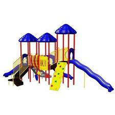 Multi-Colored Powder Coated Rainbow Lake Commercial Playground Equipment Playset
