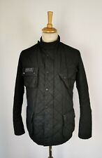 #801A MENS BARBOUR BLACK QUILTED INTERNATIONAL WAX JACKET - LARGE