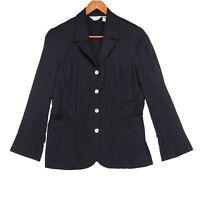 J. Jill Women's Black Stretch Button Up Blazer Jacket - Size 10