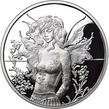 5 OZ .999 SILVER PROOF ROUND COIN WALL FLOWER AMY BROWN COLLECTION BULLION COA