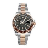 Rolex GMT-Master II Rootbeer Auto Steel Gold Men Bracelet Watch Date 126711CHNR
