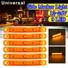6x 9LED Yellow Side Marker Light Indicator Lamp Clearance For Car Truck Trailer