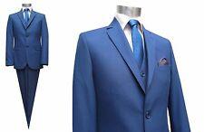 Herren Anzug 4-teilig Slim-fit Gr.60 Blau