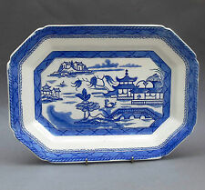 Antique Ashworth Ironstone MEAT PLATE / Platter ~ Real Old Canton ~ Blue & White