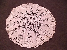 beautiful vintage hand crochet crocheted doilie All white