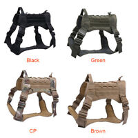 Tactical Training Dog Harness Vest Military Adjustable Molle Nylon Vests Dogs