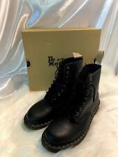 Dr. Martens Vegan 1460 Smooth Black Combat Boot-Black Felix Rub Off-Size 11/12