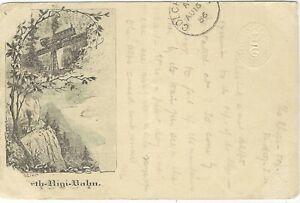 Switzerland 1886 uprated 5c picture stationery Rigi Railway used to UK