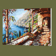 Blue Coast DIY Paint By Number Kits On Canvas Digital Oil Painting Home Decor