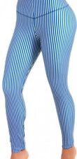 Leggings Powernet Butt Lift Body Shaper Stripe Blue White Small - Diane