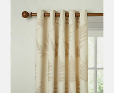 "JOHN LEWIS Chenille Fern Eyelet Top CURTAIN -Natural- 90""Wx 54""D/228 x 137cm"