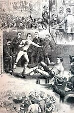 Boxing Baseball Gambling 1884 JACK DEMSEY TOM HENRY BOXING MATCH FIGHT McCAFFREY