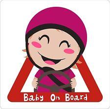 Baby On Board Girl Exterior Bumper Window Sticker Decal Graphic Vinyl Label