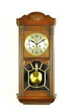 Antique German Art Nouveau  Spring Driven Wall Clock BIM-BAM Chime approx.1930