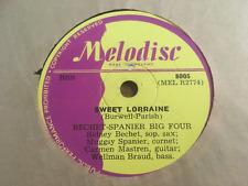 "Bechet-Spanier Big Four ""Sweet Lorraine & Lazy River"" 12"" 78 RPM Shellac 8005"