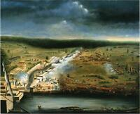 "perfect oil painting handpainted on canvas ""The Battle of New Orleans ""@NO8019"