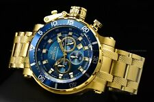 New Invicta Men's 52mm Coalition Forces Blue Dial Gold Chrono Military Watch