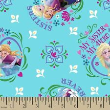 Disney Frozen My Sister My Hero 100% cotton fabric by the yard