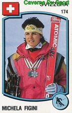 174 MICHELA FIGINI SUISSE SKI STICKER SUPERSPORT 1988 PANINI RARE & NEW 2