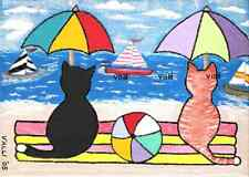 "Tuxedo & Tabby ""Wish We Were Sailing"" Art Print Valli"