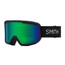 Smith Frontier Snow Goggles - Black w/Green Sol-X Mirror