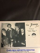 """RARE CHELSEA DEC 1976 FOOTBALL PROGRAMME FOR THE DAMNED'S SINGLE """"NEW ROSE"""""""