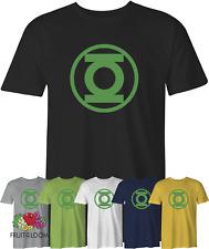 Green Lantern Logo T-Shirt DC Comics Super Hero Geek Sheldon Tshirt Size S - 5XL