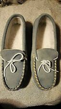New Moccasin Shoes Size 8 Ice Blue Soft Mocs Stamped 140 53463 8 566