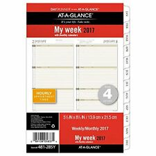 "Day Runner Weekly / Monthly Planner Refill 2017, 5-1/2 x 8-1/2"", Size 4 481-285Y"