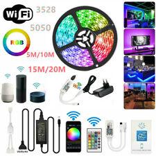 DC12V 5050 3528 SMD RGB LED Strip Light+WiFi Bluetooth Music Control+Power Set