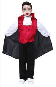 Vampire Boys Dracula Halloween Fancy Dress Party Kids Child Costume Cape Dracula