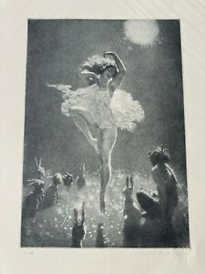 Norman Lindsay The Audience limited edition etching facsimile