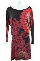 DESIGUAL Womens Ribbon West Dress Size 14 Medium Multicoloured Viscose  DK28