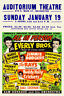1950s Rock'N'Roll Concerto Poster Eddie Cochran Buddy Agrifoglio Everly Brothers