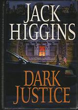 DARK JUSTICE JACK HIGGINS U.S. FIRST EDITION HARDBACK+PUTNAM'S PRESS PAPERS 2004