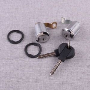 2x Rear Door Lock Set Barrel Keys fit for Citroen Berlingo Xsara Peugeot Partner