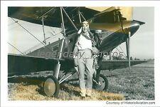 Carlene Mendieta Recreating Amelia Earhart's Flight Original News Service Photo