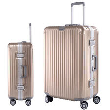 """26"""" Travel Luggage Gold ABS Aluminum frame Trolley PC Rolling Suitcase  4 Wheel"""