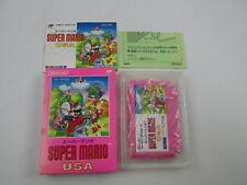 Super Mario USA with box and manual Famicom FC Japan Ver
