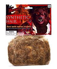 Dark Brown Werewolf Hair Fur for Face Hands Body Synthetic Animal Fur