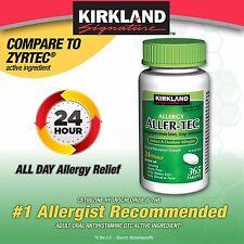 Kirkland Allergy Aller-Tec Cetirizine HCL10 mgAntihistamine Generic ZYTEC 2018