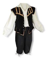 Men's Renaissance Outfit Costume Game of Thrones Got Ren Faire Cosplay Black Sca