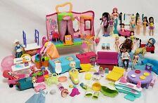 Polly Pocket, Mattel, & Other, Furniture, 19Dolls, Quik Clik Boutique incomplete