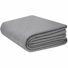 Cotton Craft - 100% Soft Premium Cotton Thermal Blanket - Full/Queen Grey - Snug