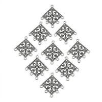 10x Antique Silver Tibetan Rhombus Chandelier Component Links for Dangle Earring